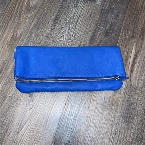 Mud Pie Blue Clutch